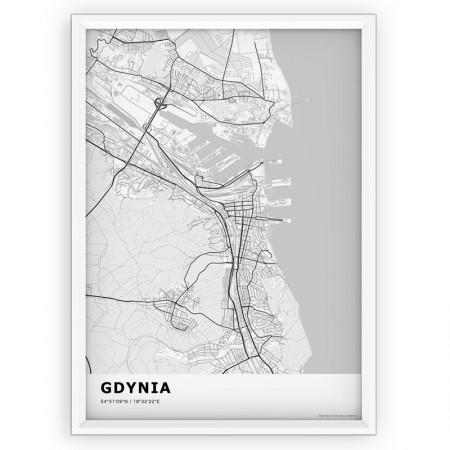 MAPA / PLAKAT - GDYNIA / standard WHITE