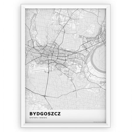 MAPA / PLAKAT - BYDGOSZCZ / standard WHITE