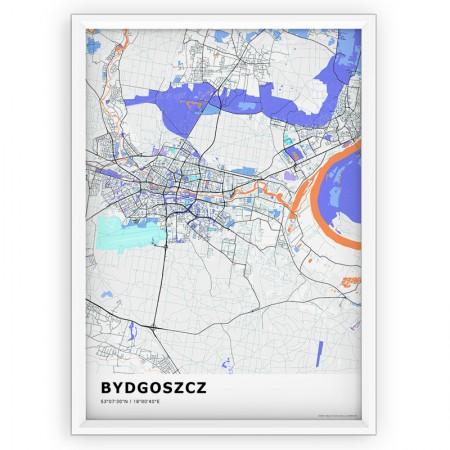 MAPA / PLAKAT - BYDGOSZCZ / standard KOLOR-1