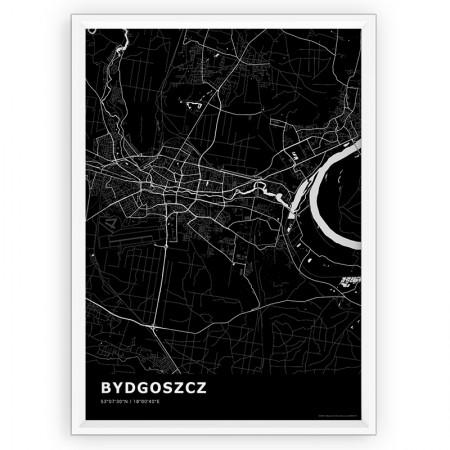 MAPA / PLAKAT - BYDGOSZCZ / standard BLACK