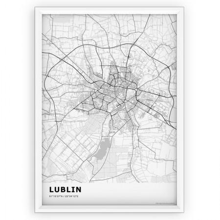 MAPA / PLAKAT - LUBLIN / standard WHITE