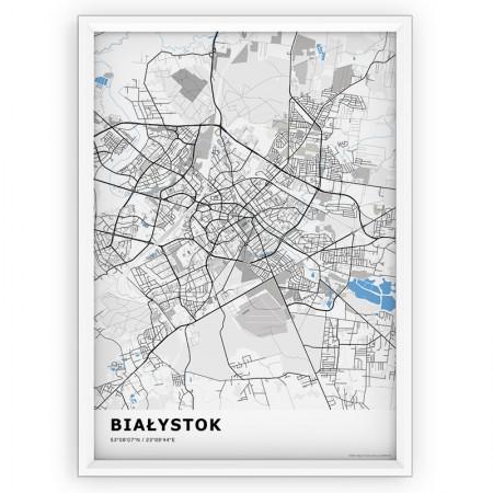 MAPA / PLAKAT - BIAŁYSTOK / standard BLUE