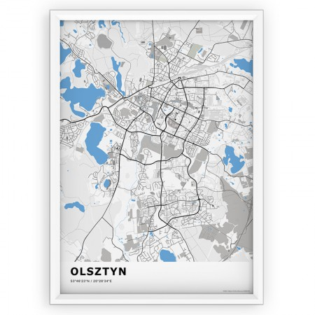 MAPA / PLAKAT - OLSZTYN / standard BLUE