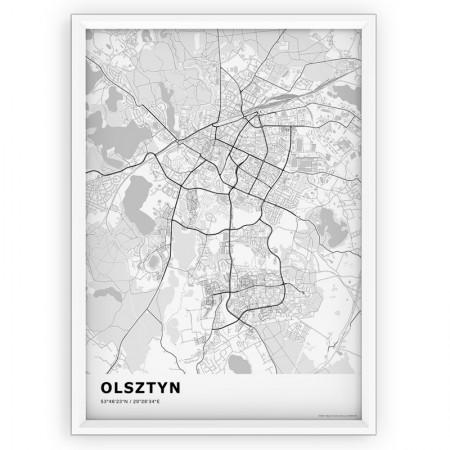 MAPA / PLAKAT - OLSZTYN / standard WHITE