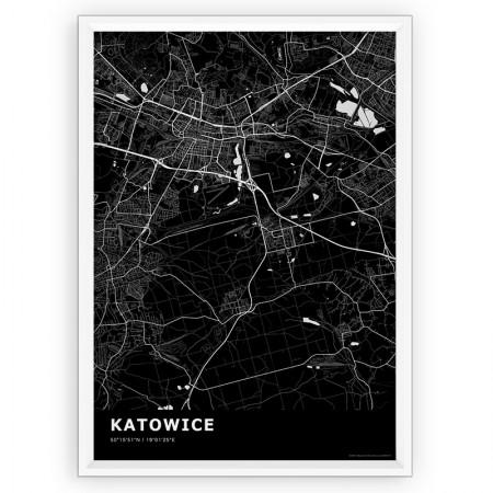 MAPA / PLAKAT - KATOWICE / standard BLACK