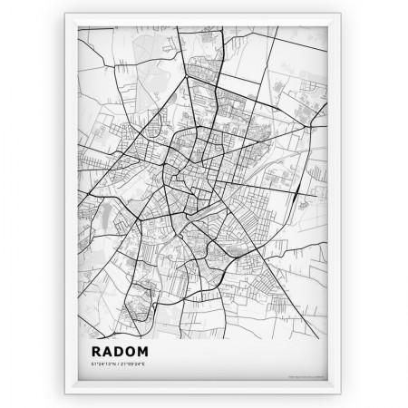 MAPA / PLAKAT - RADOM / standard WHITE