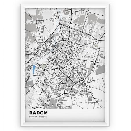 MAPA / PLAKAT - RADOM / standard BLUE