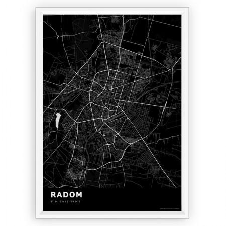 MAPA / PLAKAT - RADOM / standard BLACK