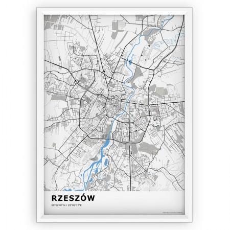 MAPA / PLAKAT - RZESZÓW / standard BLUE