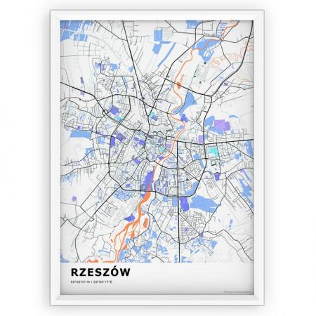 MAPA / PLAKAT - RZESZÓW / standard KOLOR-1