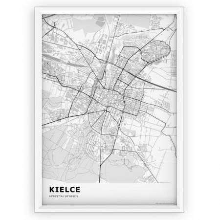MAPA / PLAKAT - KIELCE / standard WHITE