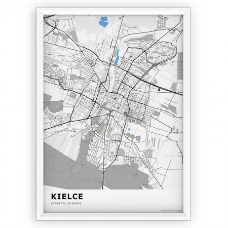 MAPA / PLAKAT - KIELCE / standard BLUE