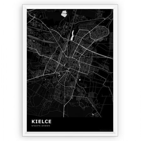 MAPA / PLAKAT - KIELCE / standard BLACK