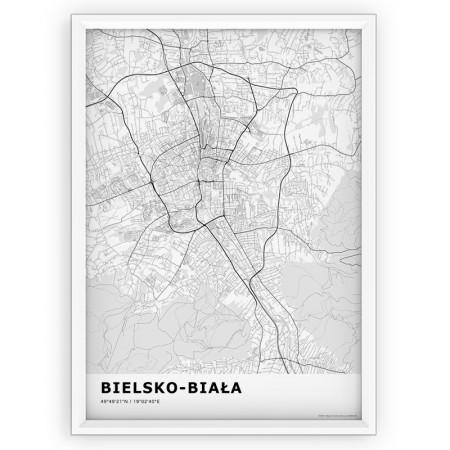 MAPA / PLAKAT - BIELSKO-BIAŁA / standard WHITE
