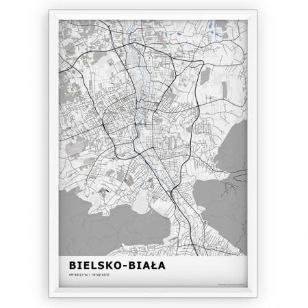 MAPA / PLAKAT - BIELSKO-BIAŁA / standard BLUE