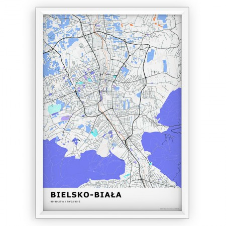 MAPA / PLAKAT - BIELSKO-BIAŁA / standard KOLOR-1