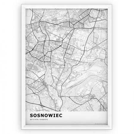 MAPA / PLAKAT - SOSNOWIEC / standard WHITE
