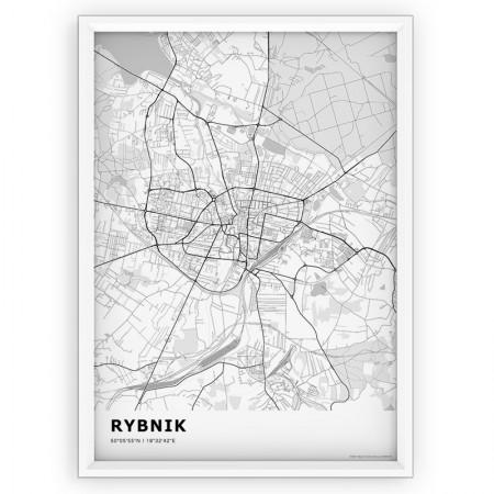 MAPA / PLAKAT - RYBNIK / standard WHITE