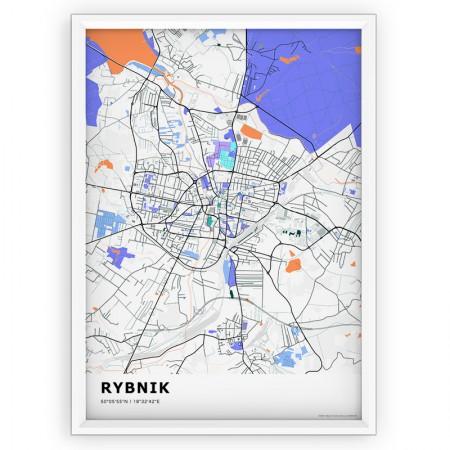 MAPA / PLAKAT - RYBNIK / standard KOLOR-1