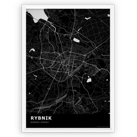 MAPA / PLAKAT - RYBNIK / standard BLACK