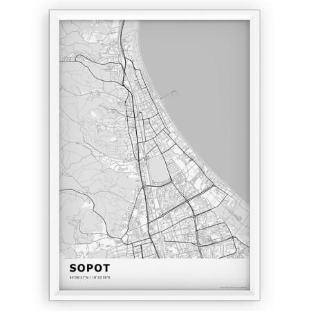 MAPA / PLAKAT - SOPOT / standard WHITE