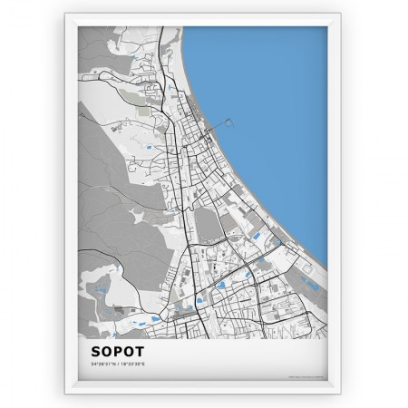 MAPA / PLAKAT - SOPOT / standard BLUE
