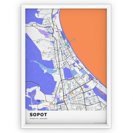 MAPA / PLAKAT - SOPOT / standard KOLOR-1