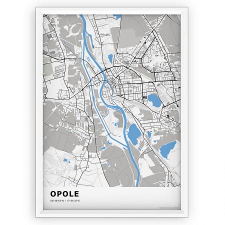 MAPA / PLAKAT - OPOLE / standard BLUE