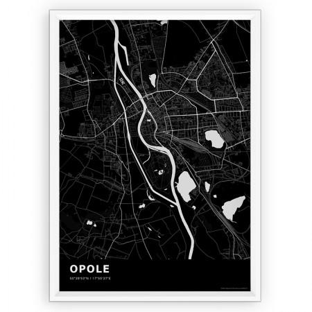 MAPA / PLAKAT - OPOLE / standard BLACK
