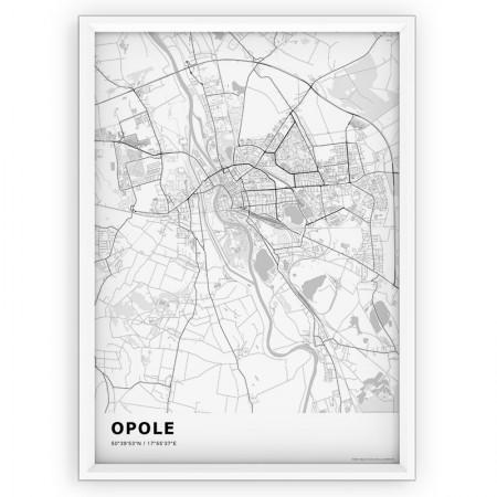 MAPA / PLAKAT - OPOLE / standard WHITE