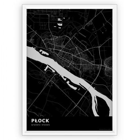 MAPA / PLAKAT - PŁOCK / standard BLACK