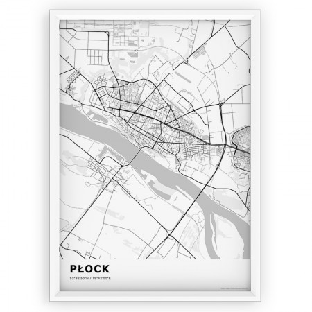 MAPA / PLAKAT - PŁOCK / standard WHITE