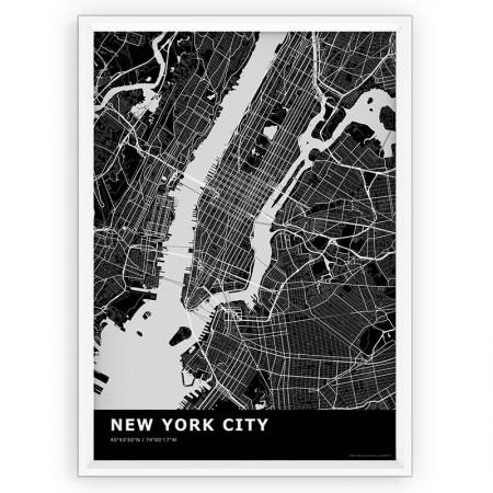 MAPA / PLAKAT - NEW YORK / standard BLACK