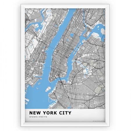 MAPA / PLAKAT - NEW YORK / standard BLUE