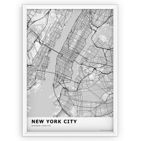 MAPA / PLAKAT - NEW YORK / standard WHITE