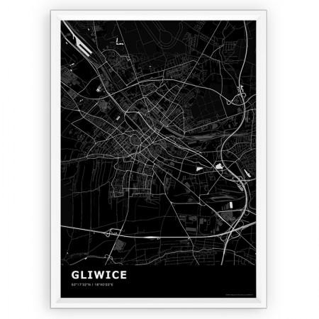 MAPA / PLAKAT - GLIWICE / standard BLACK