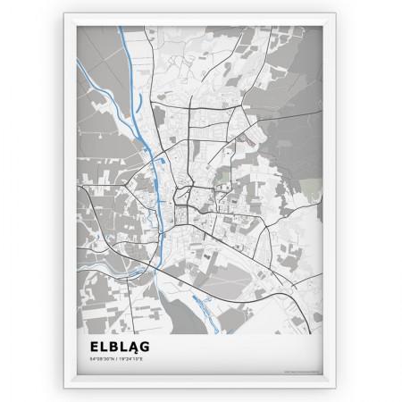 MAPA / PLAKAT - ELBLĄG / standard BLUE