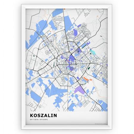 MAPA / PLAKAT - KOSZALIN / standard KOLOR-1