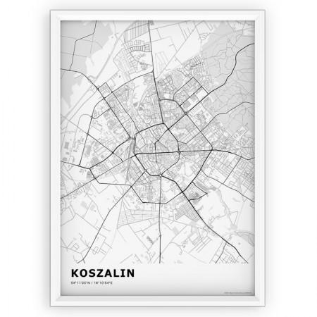 MAPA / PLAKAT - KOSZALIN / standard WHITE