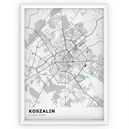 MAPA / PLAKAT - KOSZALIN / standard BLUE
