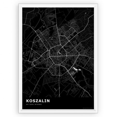 MAPA / PLAKAT - KOSZALIN / standard BLACK