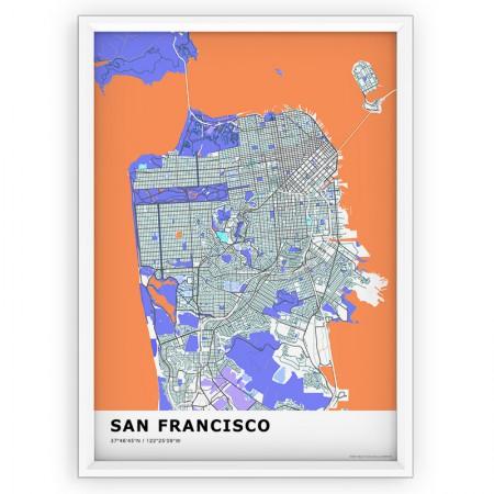 MAPA / PLAKAT - SAN FRANCISCO / standard KOLOR-1