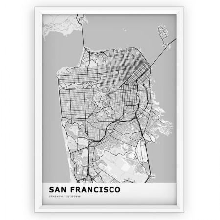MAPA / PLAKAT - SAN FRANCISCO / standard WHITE