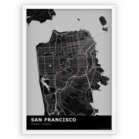MAPA / PLAKAT - SAN FRANCISCO / standard BLACK