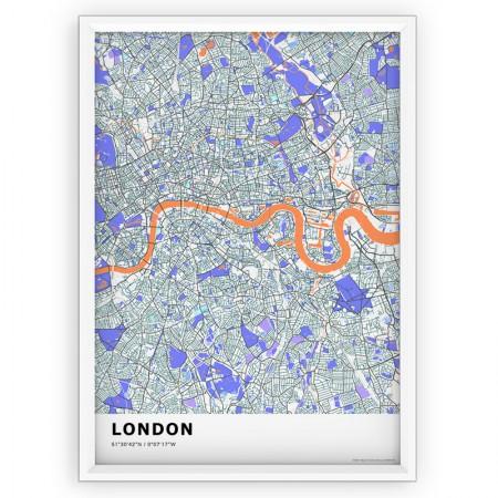 MAPA / PLAKAT - LONDYN / standard KOLOR-1
