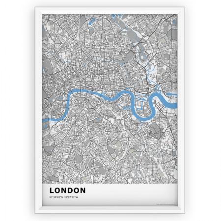 MAPA / PLAKAT - LONDYN / standard BLUE