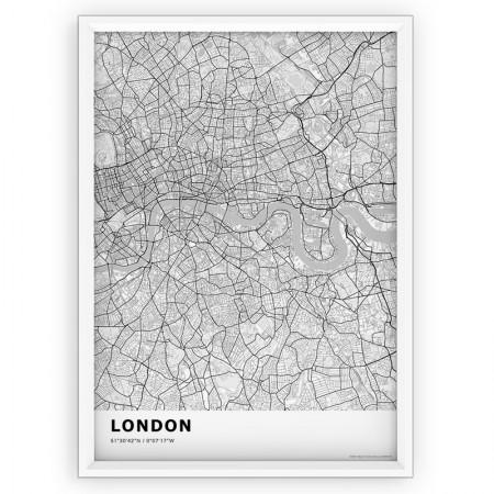 MAPA / PLAKAT - LONDYN / standard WHITE