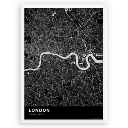 MAPA / PLAKAT - LONDYN / standard BLACK