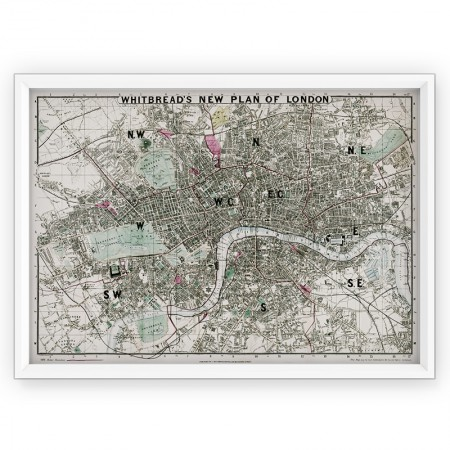 PLAKAT / STARA MAPA  - LONDYN 1862r. - reprint
