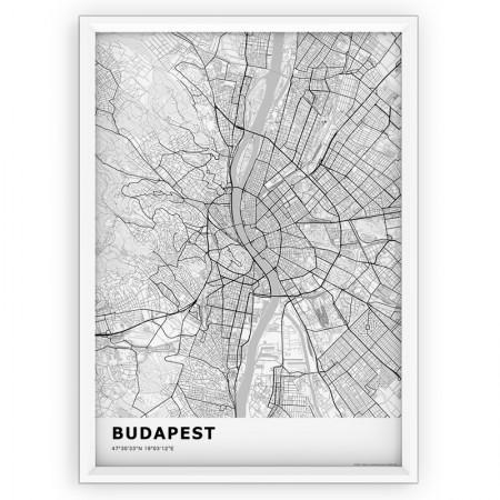 MAPA / PLAKAT - BUDAPESZT / standard WHITE
